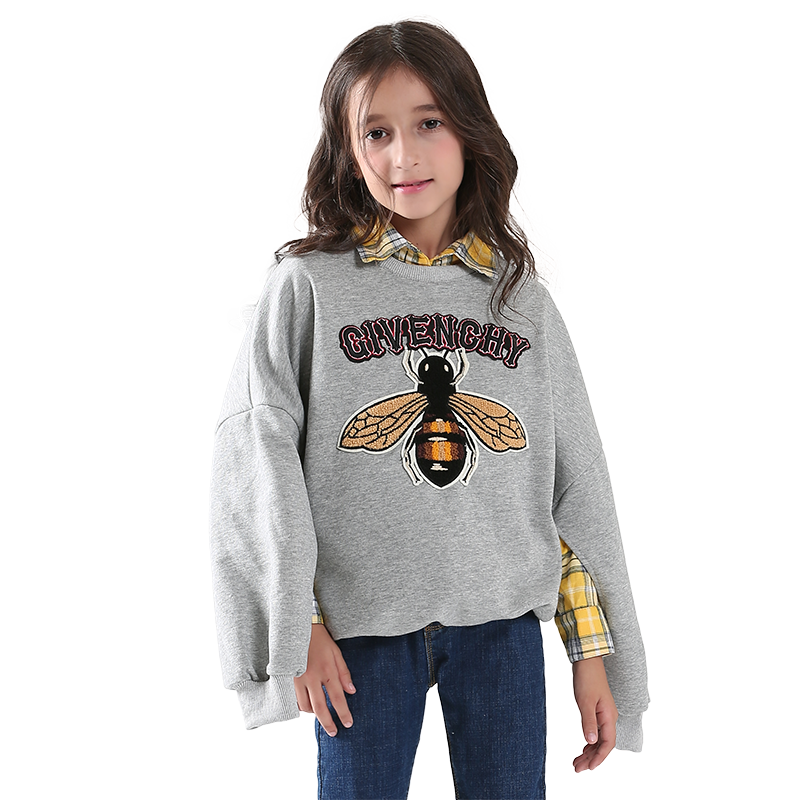 Girls hooded sweater suit New children shirt + sweater two-piece set Young girl sweater coat spring autumn winter two piece suit baby children s clothing boys and girls set sweater autumn winter warm new fashion gold velvet leisure sports two piece a8888
