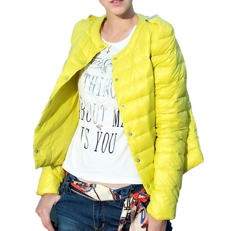 2017 New 4 Colors Warm Winter Jacket Women 2017 New Fashion Slim Thin Ultra Light O