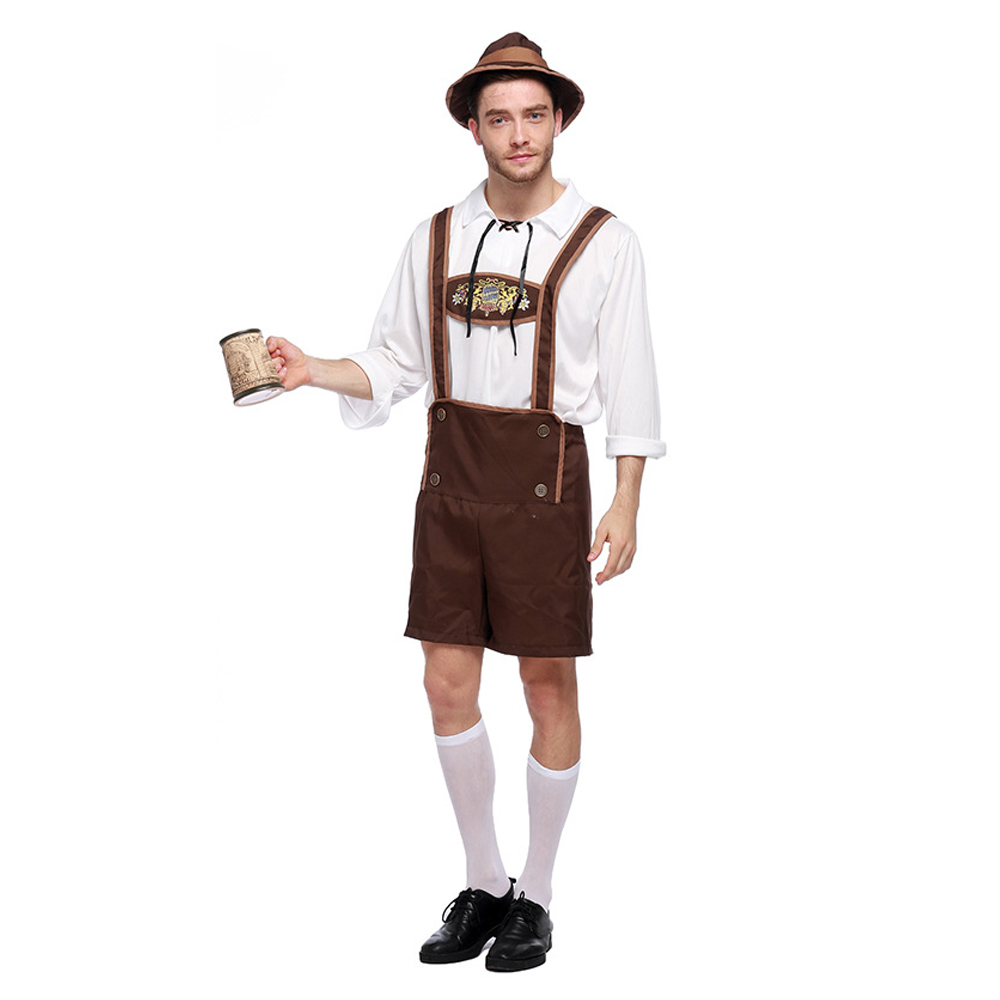 9f065fdf18d LMFC Halloween Costumes For Men Oktoberfest Traditional German Bavarian  Beer Male Cosplay Festival Party Adult Clothes Plus size