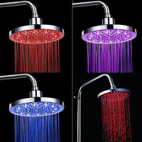 8 INCH Round LED Shower Head Led Rainfall Shower Rain Shower HG 4106DA