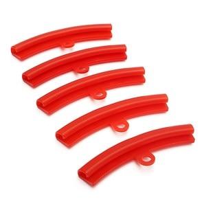 Image 2 - Protetor de borracha vermelho do pneu 5 peças, pneu roda que muda jante, ferramentas de proteção de borda, poleteno
