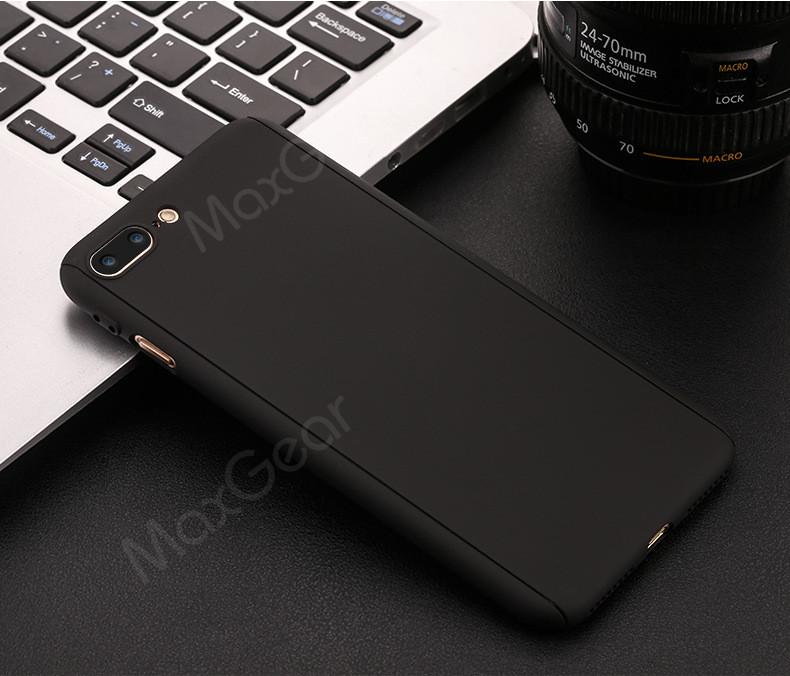 Luksusowe Piano Black 360 Stopni Ciężka PECET Skrzynki Dla Apple iPhone 5 5S SE 6 6 S 7 Plus Szczupła Całe Ciało Pokrywa Capa + Szklany Ekran Protector 12