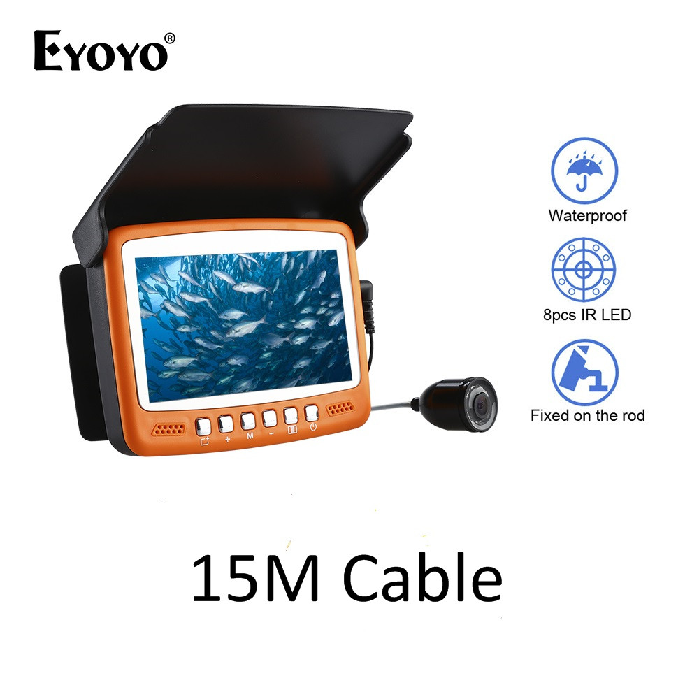 Video Surveillance 15m 1000tvl Ice Fishing Camera Underwater Fish Finder Video Cam 4.3 Lcd Color Sea Fishing Monitor Infrared Led Fishfinder Latest Technology Surveillance Cameras