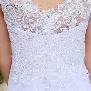 Image 5 - ADLN Barato Praia Vestidos de Casamento com Apliques Com Decote Em V Vestidos de Chiffon Para O Casamento Branco/Marfim Plus Size Vestidos de Noiva