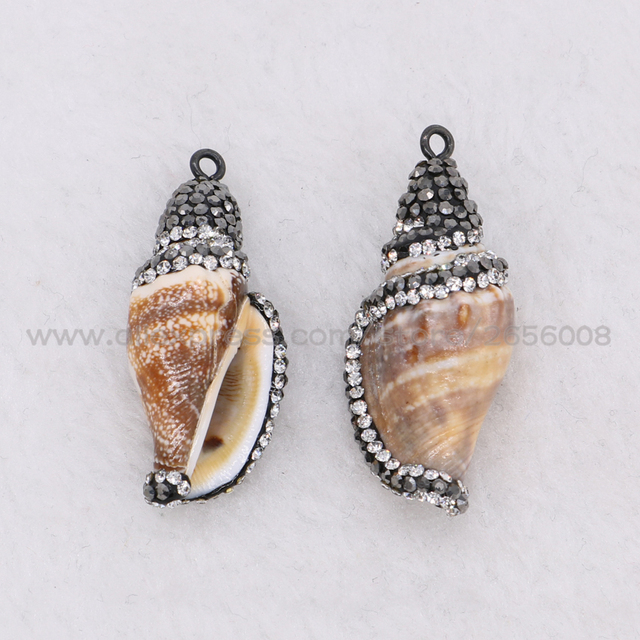 Wholesale 8 pcs natural conch shell pendants electroplated beads wholesale 8 pcs natural conch shell pendants electroplated beads conch beads handcrafted gems jewelry for women aloadofball Choice Image