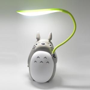 Image 3 - Милая мультяшная лампа Тоторо, 3 варианта, перезаряжаемая настольная лампа, светодиодный ночсветильник для чтения для детей, подарок, домашний декор, светильник ильники