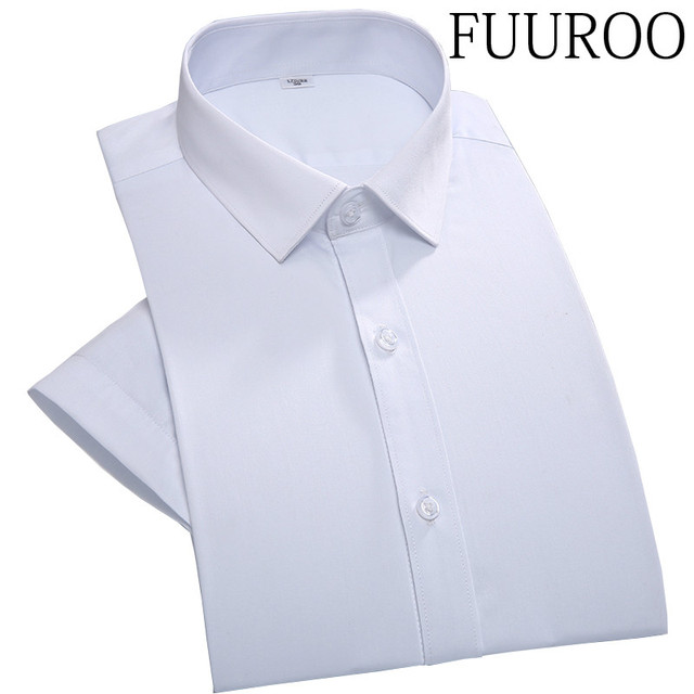 Men Shirt 2016 100% Cotton Solid Formal Short Sleeve Men Shirts Chemise Homme Business Wedding Dress Shirts CBJ-vT0053