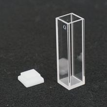 3.5 мл 10 мм Путь JGS1 Кварцевой Кювете Ячейки С Крышкой Для Флуоресцентный Спектрометр