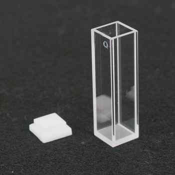 3.5ml 10mm Path JGS1 Quartz Cuvette Cell With Lid For Fluorescence Spectrometer - DISCOUNT ITEM  0% OFF All Category
