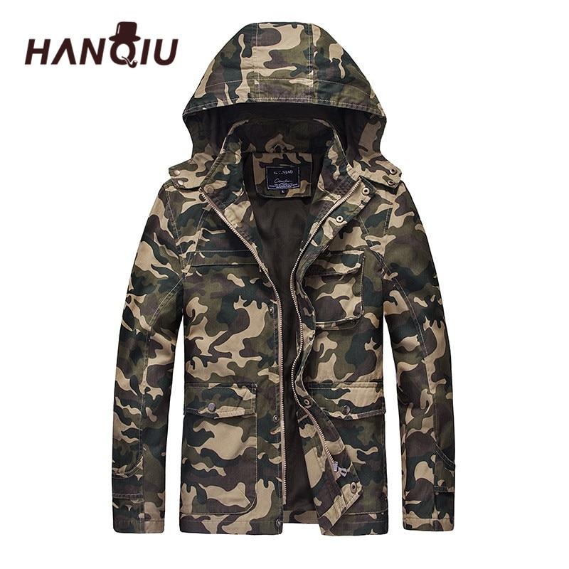 한기 가을 위장 군사 자켓 남자 후드 슬림 피트 면화 남성 카모 육군 코트 패션 옴므 자켓 Jaqueta Masculino