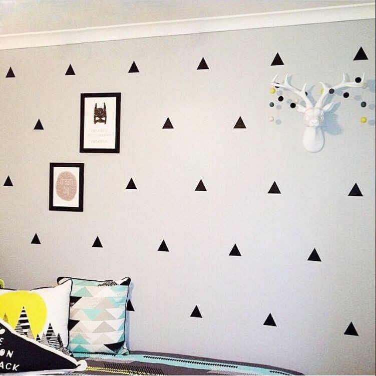 B39 INS series of children's real black and white PVC  wall sticker and baby room decoration background wall Decal Home Decor