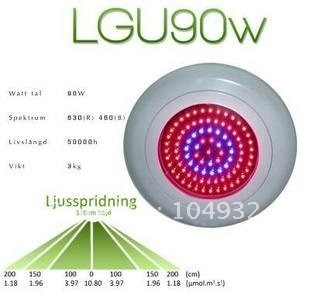 купить led grow light New 90W LED UFO Plant Hydroponic Lamp Grow Lights Red 630NM 460NM 7:2 недорого