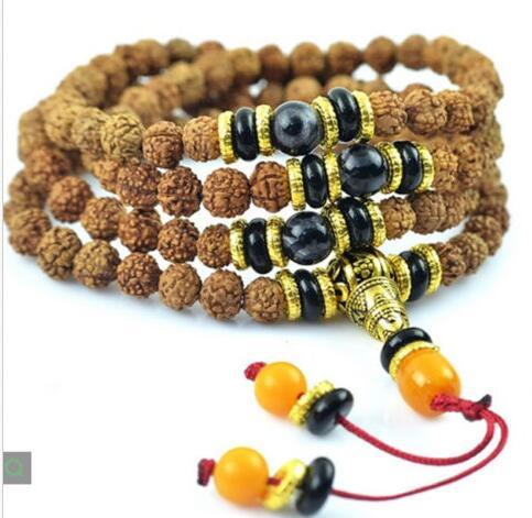 Livraison gratuite Mode Hommes Charme Bracelet En Bois Naturel Perles Stretch Bracelet Bijoux Cadeau 20mm
