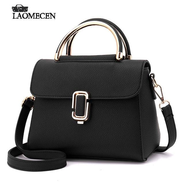 Mini Tote Bags For Women Bolsas Femininas Famous Brands High Quality Small Black  Handbags Metal Handle Ladies Cross Body Bag 0 dbb7b97e13