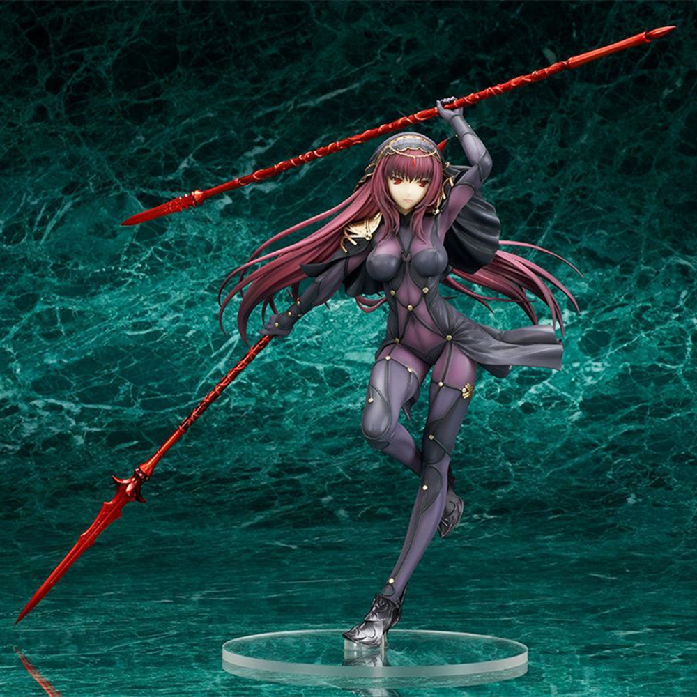 Anime Fate Grand Order Lancer Scathach 1/7 Scale Pre-Painted PVC Action Figure Collectible Model Toys Doll 25cm anime super sonico winter clothes ver 1 6 scale pre painted sexy pvc action figures collectible model toys doll 27cm 3 colors