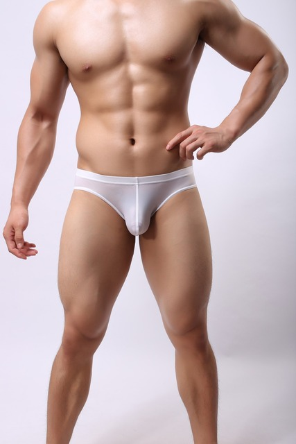 Mens ice silk underwear lingerie sexy hot men briefs