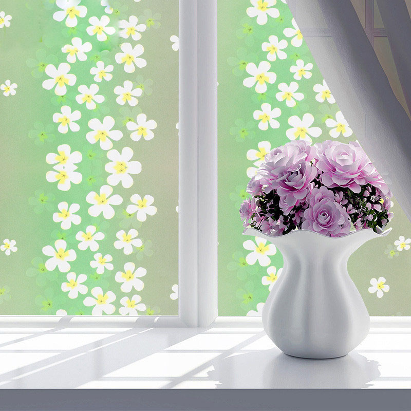 100m Frosted bedroom window flower film thickening self-adhesive bathroom light opaque office cellophane glass