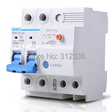 цена на Free Shipping 2 years Warranty LE C40 2P 40A 2 pole earth leakage ELCB RCD residual current circuit-breaker earth leakage