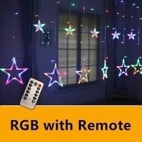 BLUBBLE Stars Christmas Holiday Lights AC110 240V Halloween Holiday Lighting Remote Control Waterproof Garden Led String Light