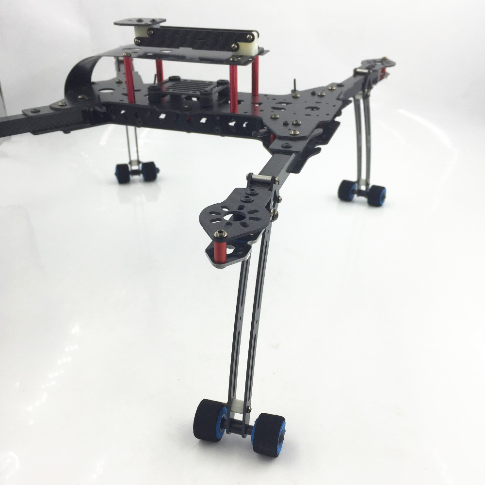 Mini DH410 FPV Folding Carbon Fiber Quadcopter Frame FPV with Retractable Landing Skid 410mm Wheelbase for DIY Racing