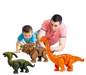 цена на 38CM RC Electric Walking Lay Eggs Dinosaur Remote Control Electronic Robot With Light Sound For Kids Baby Toys Christmas Gift