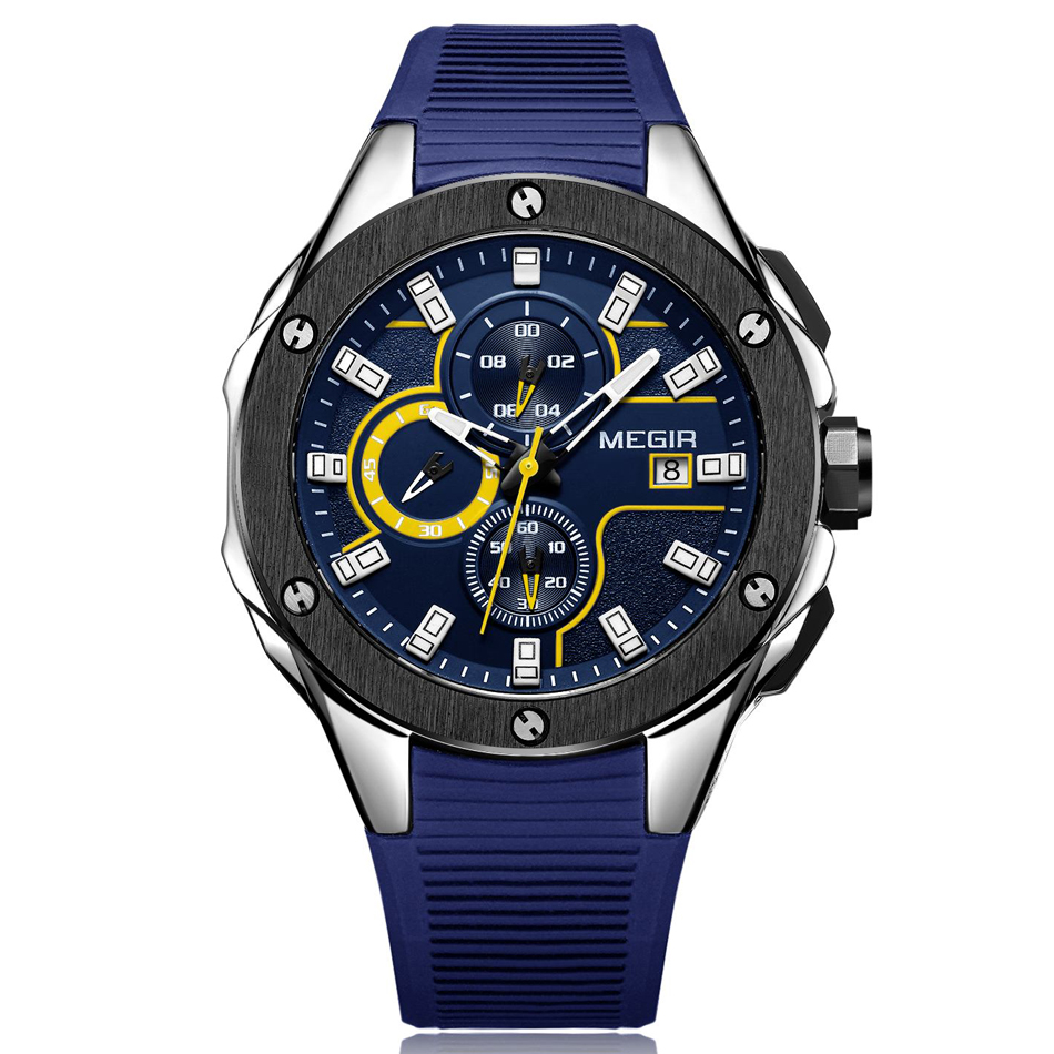 blue Men's Chronograph  Waterproof Casual watch