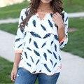 2017 Плюс Размер Отпечатано Осень Женщины Топы Блузки для Беременных Половины рукавами Беременности Рубашка О-Образным Вырезом Элегантный Тонкий Одежда Для Беременных