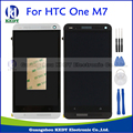Para htc one m7 single/dual sim 802 w 802d 802 t 801e lcd display de pantalla táctil digitalizador reemplazo asamblea frame + herramientas