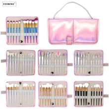 10Pcs/Bag Professional Makeup Brush Set Case Makeup Tools Bag Unicorn Powder Foundation Blush Brusher Eyebrow Make Up Brush Kit