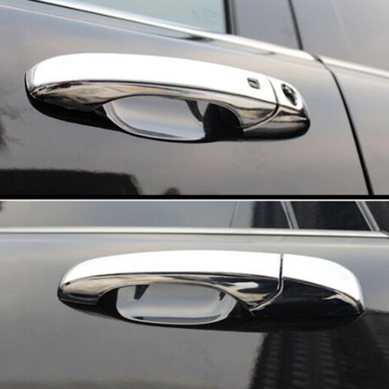 For dodge durango 2017 2018 2019 ABS Chrome car Handle cover Decoration Cover Trims Car Styling Accessories No smart holes|Chromium Styling| |  - title=