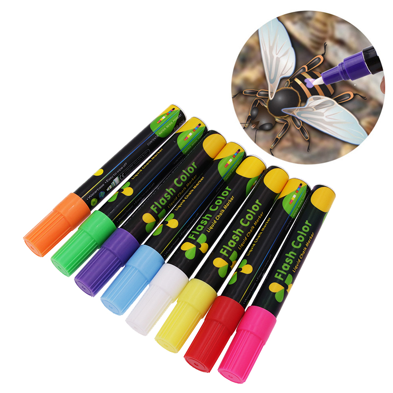 DLKKLB 1 Pc Beekeeping And Bees Tools Queen Bee Mark Plastic Marks Pen Queen Bee Marking Marker Pen Set 8 Color Bee Tools