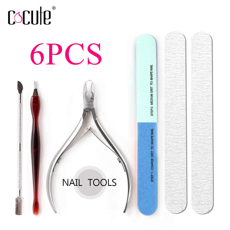 Beauté ongle outil maquillage ensemble ongle ongle ongle ongle tampon éponge bloc polissage bande ongles Sissors Kit professionnel