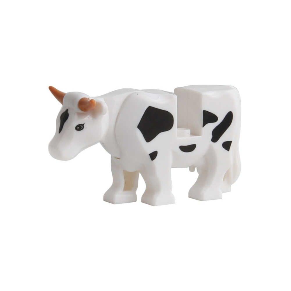 동물 시리즈 모델 피규어 큰 빌딩 블록 동물 교육 완구 어린이를위한 어린이 선물 legoed duploed와 호환 가능