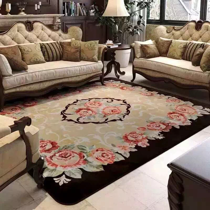 Big Bedroom Rugs For Cheap: Drop European Style Roses Carpet Living Room Big Area