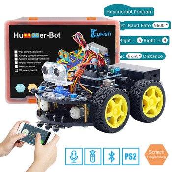 Keywish 4WD Roboter Autos für Arduino Starter Kit Smart Auto APP RC Robotik Lernen Kit Pädagogisches STEM Spielzeug Kid Lektion + Video + Code