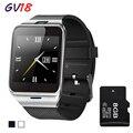 2016 Новый Bluetooth Smart Watch GV18 Для Android Телефон Носить Наручные Поддержка Синхронизации смарт часы Сим-Карты ПК DZ09 GT08