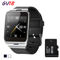 2016 New Bluetooth Smart Watch GV18 For Android Phone Wrist Wear Support Sync smart clock Sim Card PK DZ09 GT08
