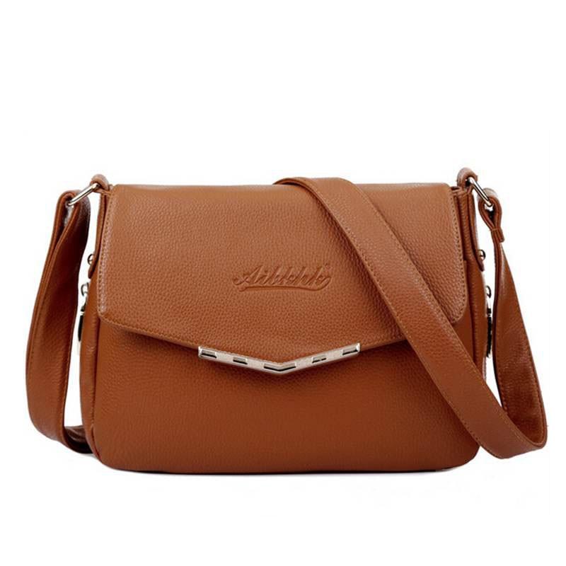 Hot Sale 2017 Fashion Women Messenger Bag Leather Crossbody Female Shoulder Bag Women Ladies Handbag WB556