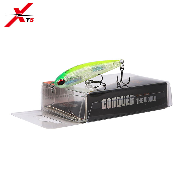 XTS Fishing Lures 70mm 40mm Wobblers Artificial Hard Pencil Bait Lead Inside Slow Sinking 6 Colors Swimbait Tackle 4503