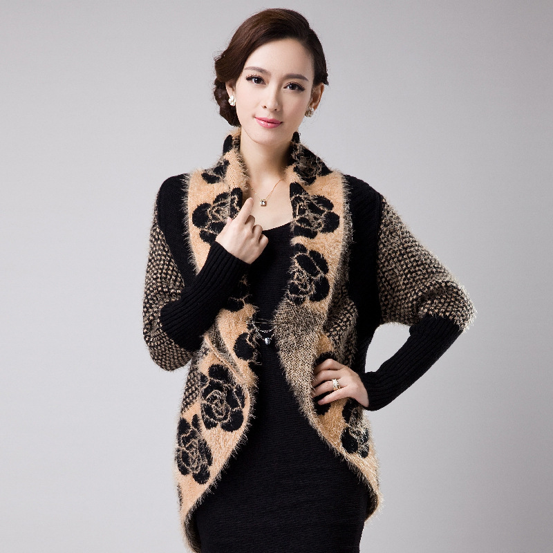 8254b1eca7a7 Ladychili Women s Clothing Soft Mohair Knitting Flower Pattern ...