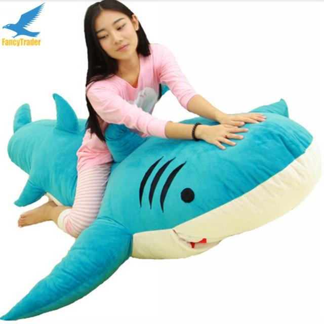 Fancytrader Huge Giant Shark Sleeping Bag Beanbag Sofa Bed Carpet Tatami Plush Stuffed 2 Colors FT90358