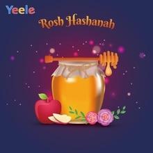 Yeele Rosh Hashanah Family Photocall Glitters Honey Photography Backdrops Personalized Photographic Backgrounds For Photo Studio