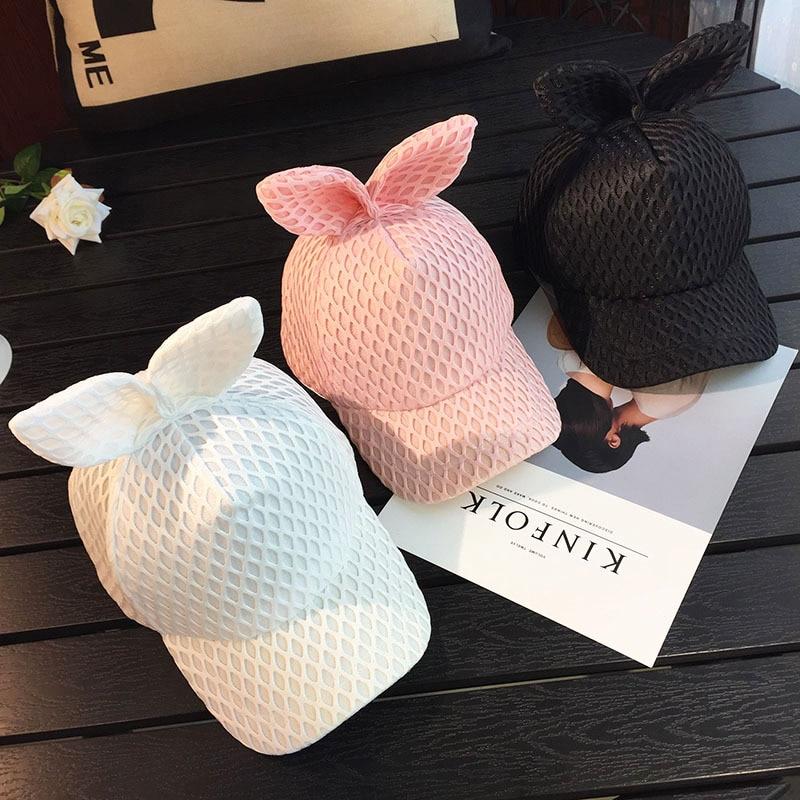 2017 New Fashion Snapback Casual Cute Ears Baseball Caps Hip Hop Mesh Cap Sun Hats Bone Gorras Chapeu For Men Women