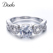 Fashion Wedding Rings For Women 585 White Gold Color Intertwined Fate Love Jewelry Ring Vintage Bague Female bijoux gifts DR099