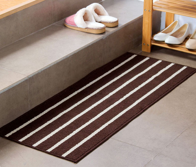 Charmant Classic Striped Minimalist Kitchen Bathroom Door Mat Mat Long Absorbent  Antiskid Mat Carpet