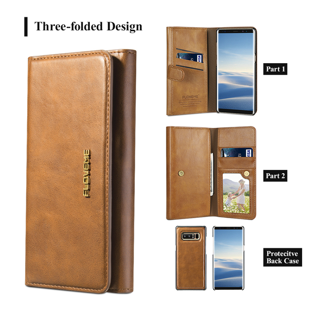 Luxury Leather Wallet Phone Case for Samsung