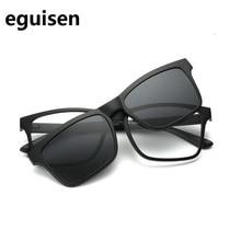 54-18-140 TR magnet frame retro glasses polarizing lens set for male and female 2202 myopic eyes Free shipping