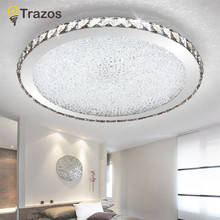 Modern K9 Crystal LED Flush Mount Ceiling Lights Fixture Mixed crystal Home Ceiling Lamps for Living Room Bedroom Kitchen(China)