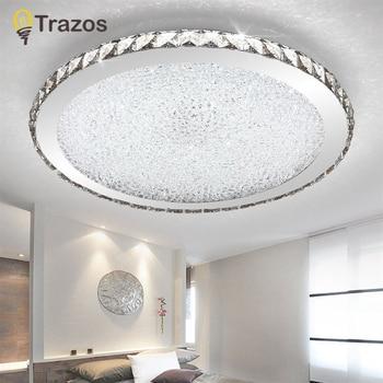 цена на Modern K9 Crystal LED Flush Mount Ceiling Lights Fixture Mixed crystal Home Ceiling Lamps for Living Room Bedroom Kitchen