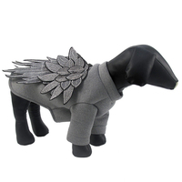 The New Fashion Dog Clothes Warm Puppy Embroidery Feather Wings Pet Jacket Coat Winter Dog Clothes